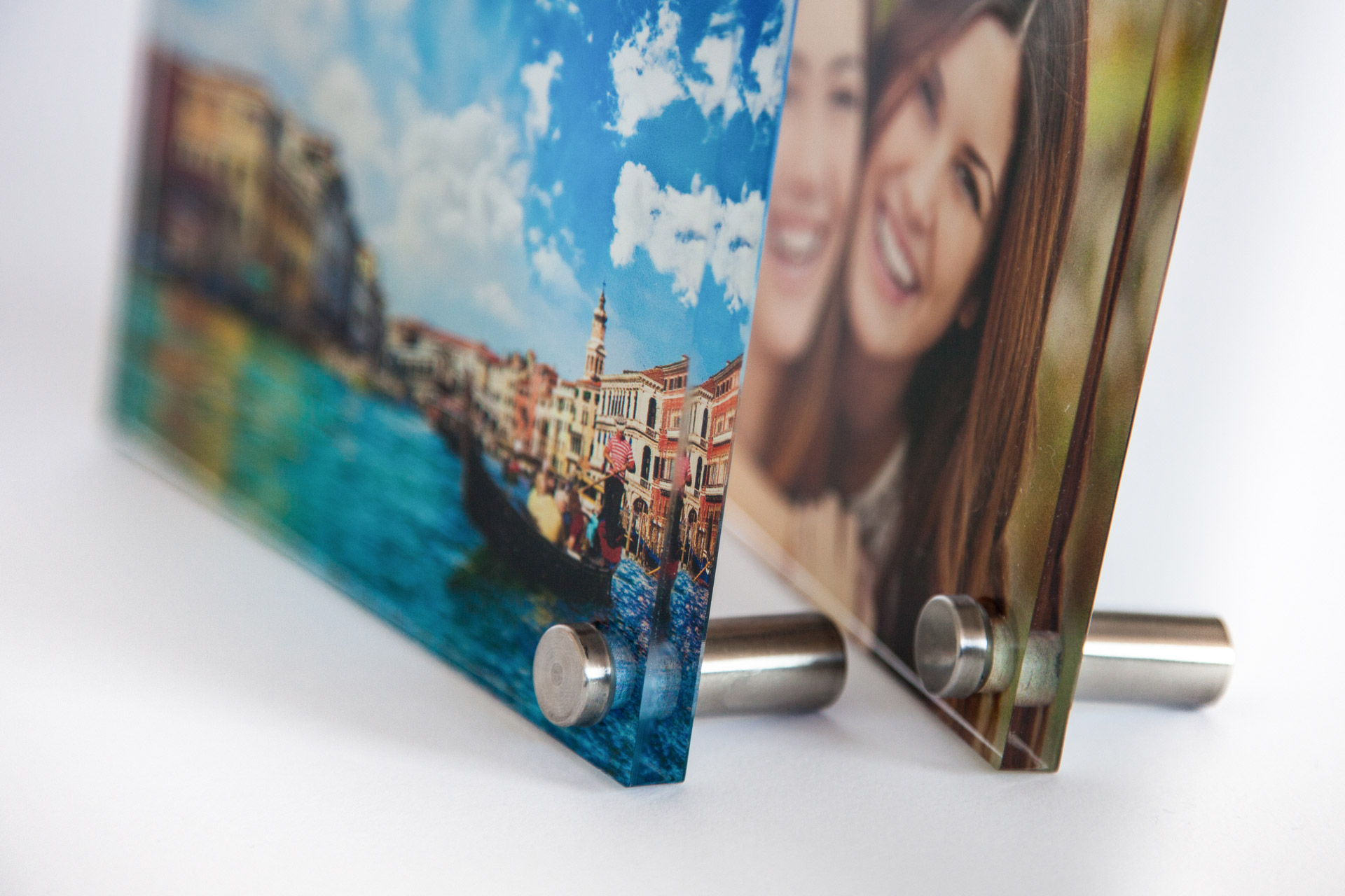 Poster size photo printing on plastic